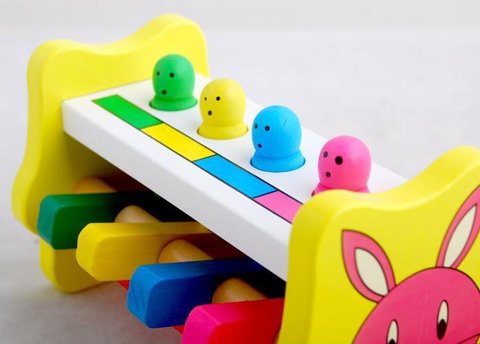 Pengiriman gratis kayu menghantam udara, mengetuk mainan, pelatihan kemampuan awal anak-anak, mainan untuk anak-anak one piece