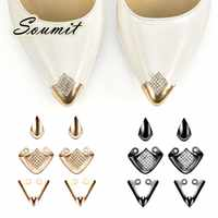 6 шт., обувь для защиты носка, металлическая обувь, украшение на высоком каблуке, защита от разрыва, аксессуары для ремонта на высоком каблуке