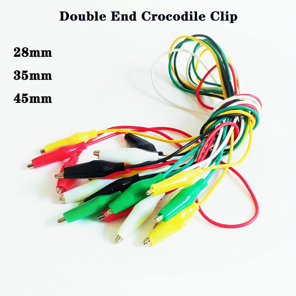Alligator Clips Electrical Test Leads Clip Roach Clip Test Jumper Wire Connector Cable Connectors Double-ended Crocodile Clips