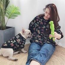 Miflame Семейные толстовки для собак корги одежда французского