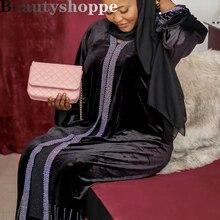 Dress Abaya Muslim Fashion Clothing Kaftan Crystal Bangladesh Turkish Islamic Galabiyat