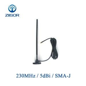 Image 1 - 230MHz Antenne met Magnetische Voet 230M Koperen Antenne SMA MALE Omni Antena Draadloze Module DTU Antenne TX230 TB 300
