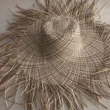 Соломенная шляпа ручной работы для женщин Повседневная пляжная