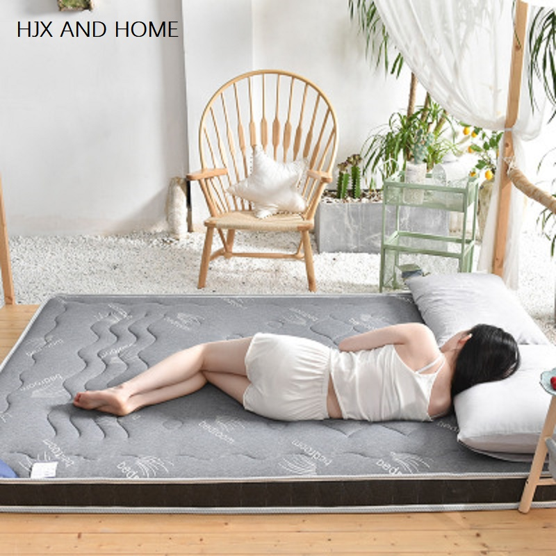 Latex Mattress 10cm Thickness King Queen Full Twin Size Memory Foam Filling Breathable Comfortable Rebound Mattress