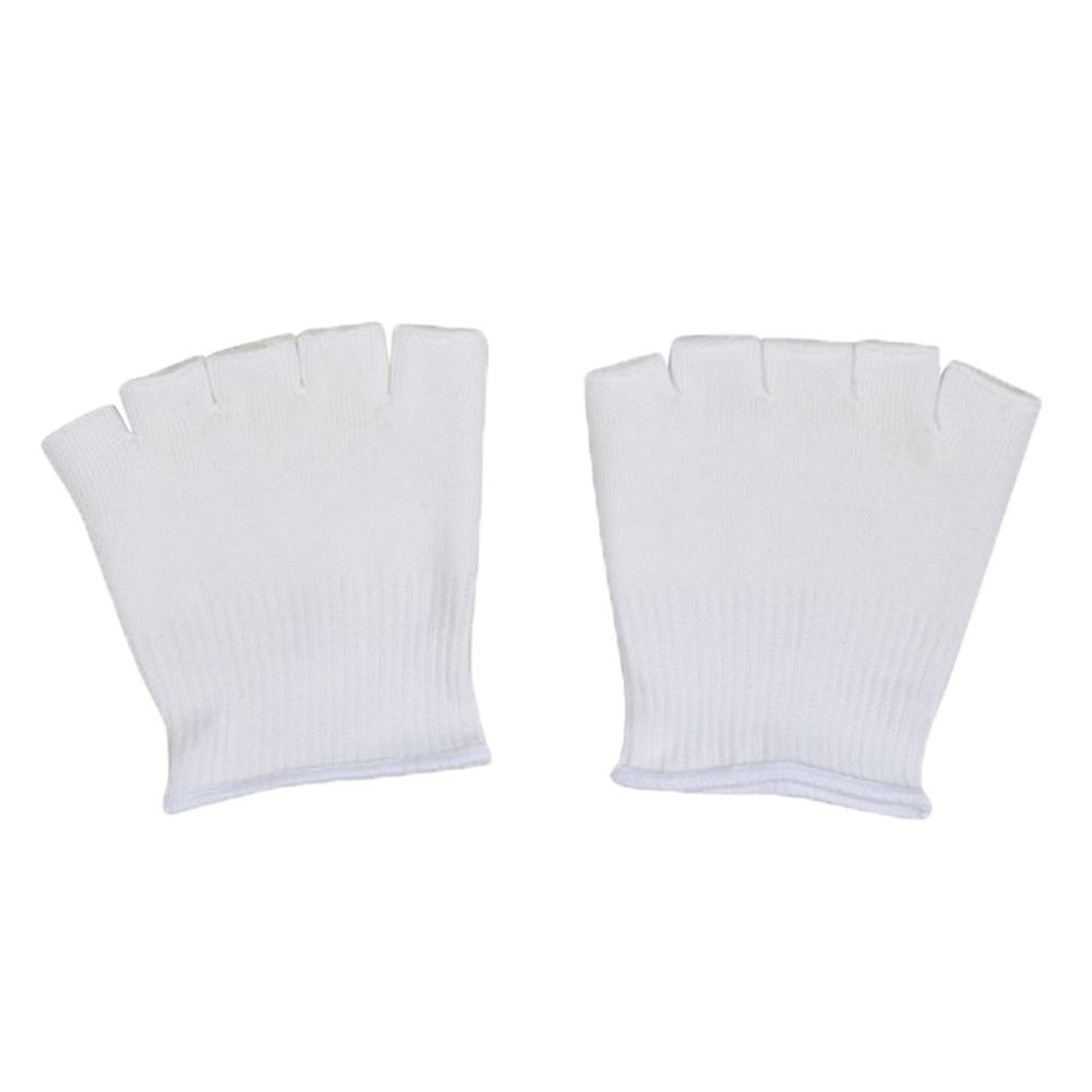 1 Pair Cracked Skin Open Soft Separator Feet Cushion Compression Care Foot Spa Recovery Toe Socks Comfy Moisturizing Gel