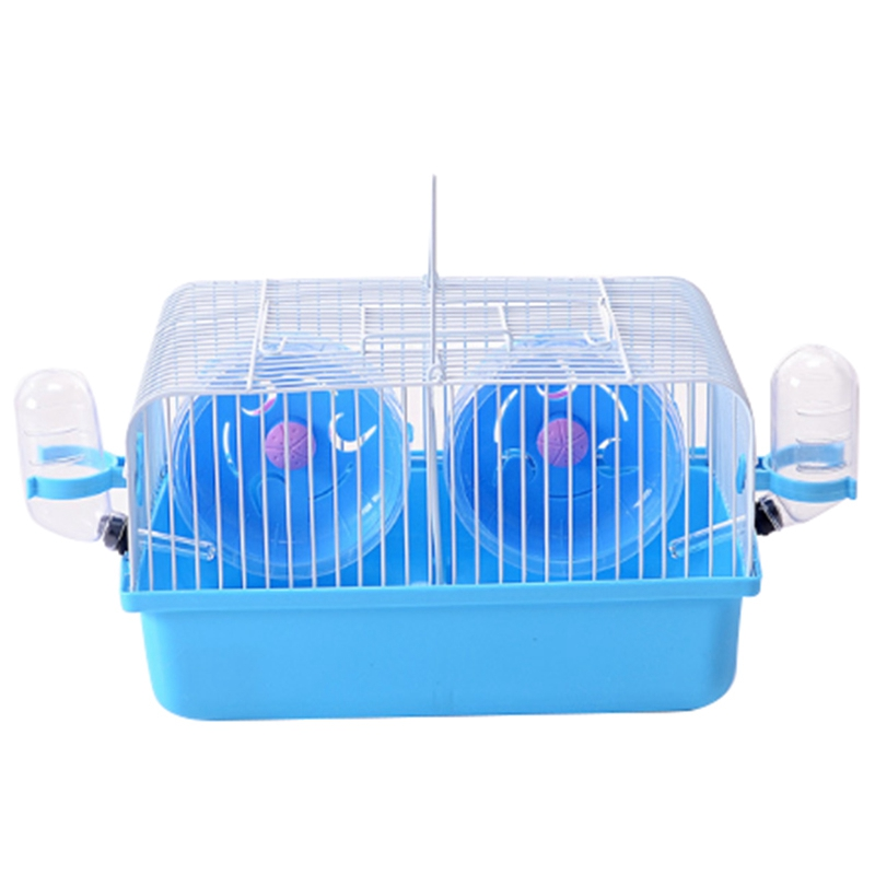 Quality Pet Hamster Cage Portable Small Pet Cage Nest Cute Water Bottle Hamster Toy Sport Running Wheel Guinea Pig House Hamst