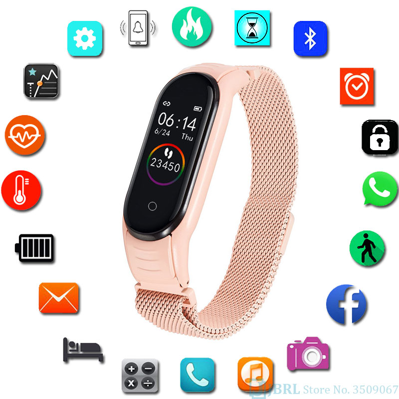 Fitness Tracker for Female Business-Fashion SmartWatch Ios Android Digital Smart Watch Lady Sports Bracelet for Men and Women