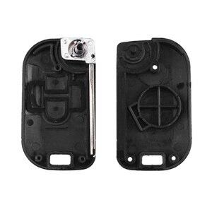 Image 5 - KEYYOU 2 כפתורים Flip מתקפל מרחוק מפתח מעטפת רכב מקרה Fob כיסוי עבור ניסן הקאשקאי primera Micra Navara Almera הערה סאני