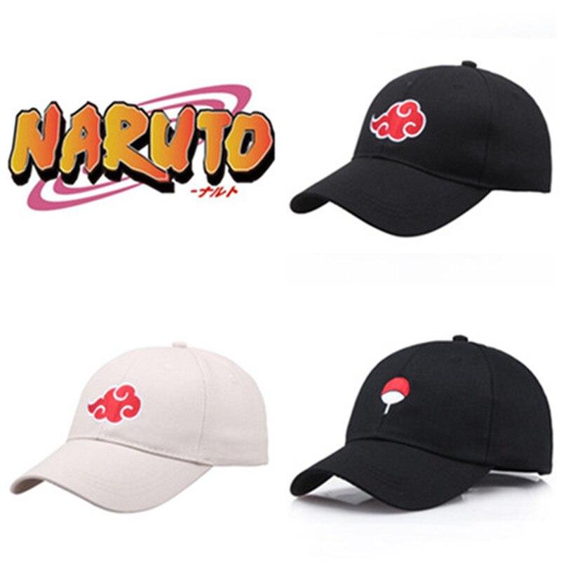Japan Anime Naruto Hat Cartoon Cute Cosplay Costumes Accessories Sasuke Akatsuki Baseball Cap Sunhat Fancy Comicon Gift