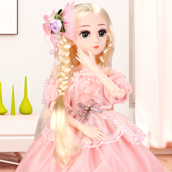 UCanaan 1/4 BJD SD Doll 45CM Girls Princess Doll With 18 Ball Joints Outfits Dress Wig  Shoes Makeup Children Birthday Gift Toys цена 2017