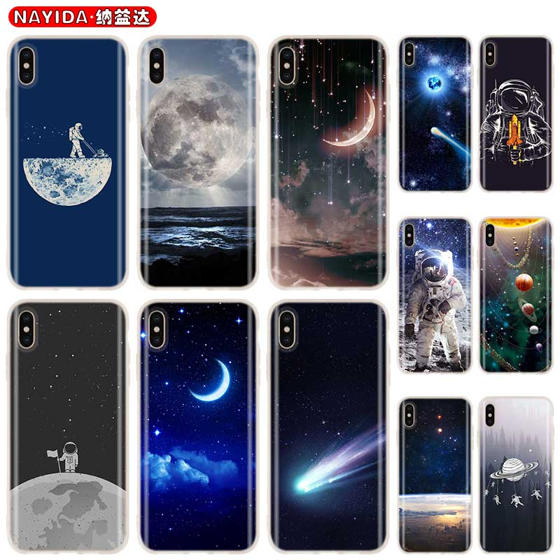 <font><b>Baseus</b></font> Clear Cover Case for <font><b>iPhone</b></font> 11 Pro X XR XS Max 8 7 <font><b>6s</b></font> <font><b>6</b></font> Plus 5 5s SE 4s Funda Coque Soft Etui Space Love Sun Moon Star image