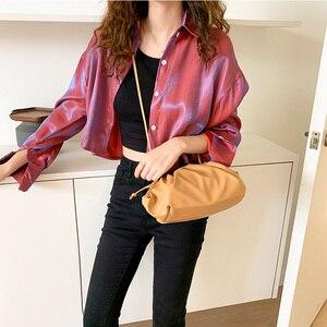 Image 2 - Luxury Designer New Cloud Shape Women Day Clutch Bag Pleated Dumpling Shoulder Messenger Bag Small Cute Lady Crossbody Handbag