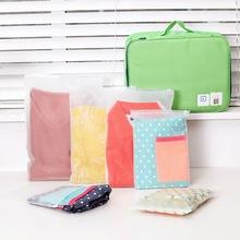 Przezroczyste torby podróżne torebki próżniowe na ubrania organizator torba do przechowywania do domu uszczelka skompresowany oszczędzające miejsce torby podróżne pakiet tanie tanio hoomall many Pa + pe
