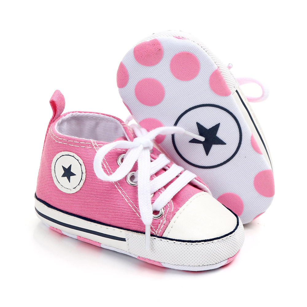 Baby Shoes Wholesale Spring And Autumn Solid Color Front With Versatile Canvas Toddler Shoes Baby Shoes 1747