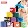 Кинезиологическая спортивная лента 15 цветов, Спортивная хлопковая эластичная клейкая лента для восстановления растяжения, фитнеса, снятия...