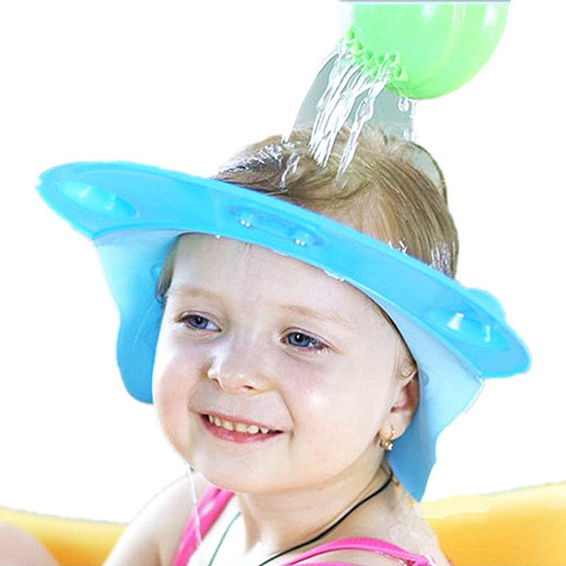 Lovely Adjustable Baby Shampoo Cap Toddler Kids Shampoo Bathing Shower Cap Wash Hair Caps For Baby Care