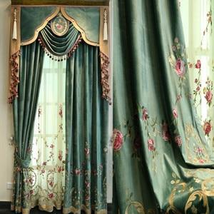 Green luxury villa embroidered
