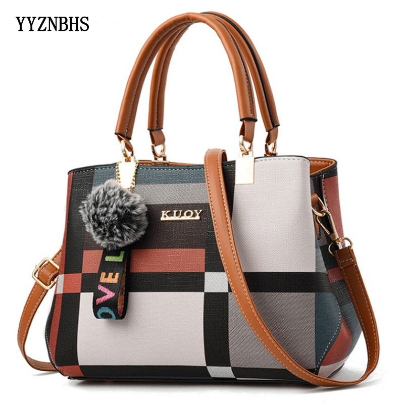 Fashion Women Shoulder Bags Casual Plaid Tote Bag Leather Handbag For Ladies Crossbody Bags Luxury Designer Brand Bag Sac A Main