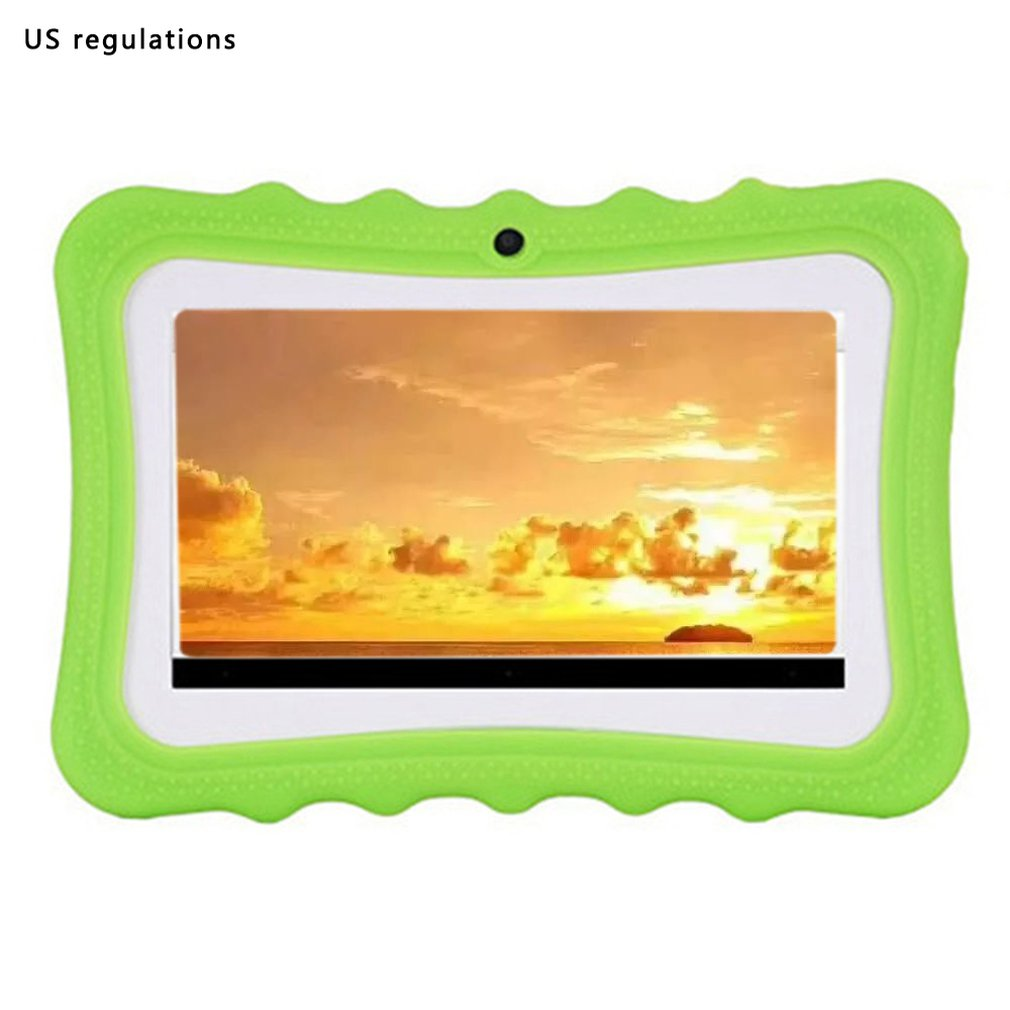 Quad-Core Wifi Internet 7-Inch Children Learning Machine Multi-Function Cartoon Tablet Before And After 30W Camera 512M+8G