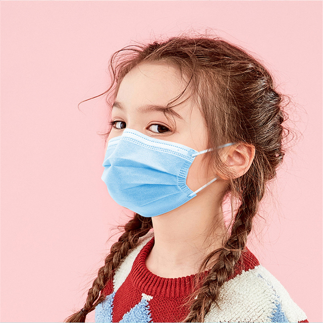 20/50/100 PCS Kids Mask Face Mouth Anti-Dust Mask Child Mask Disposable 3 Layers Filter Children Mask Dustproof Face Mouth Masks 4