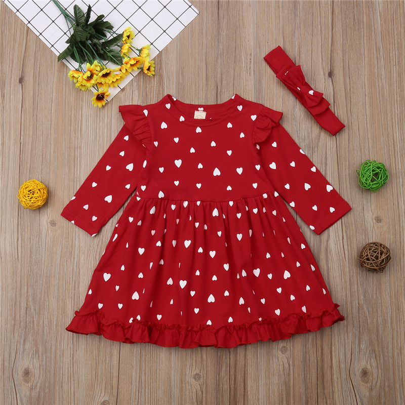 UK Toddler Baby Girl Christmas Xmas Reindeer Clothes Long Sleeve Lace Tutu Dress