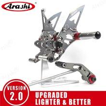 Arashi repose pieds réglable, repose pieds pour SUZUKI GSXR600, 2006, 2007, 2008, 2009, 2010, CNC et montage pour siège arrière, GSXR GSX R, 600