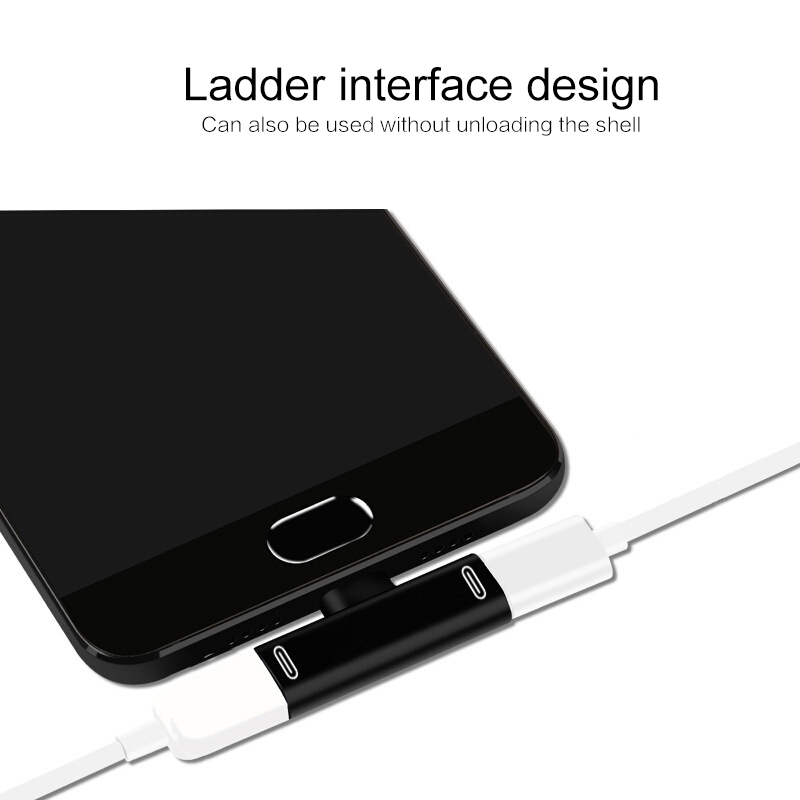 3 In 1 USB C To Type-C Adapter USB Type C Charging Cable Charger Earphone Converter For Xiaomi Huawei Type C Phones