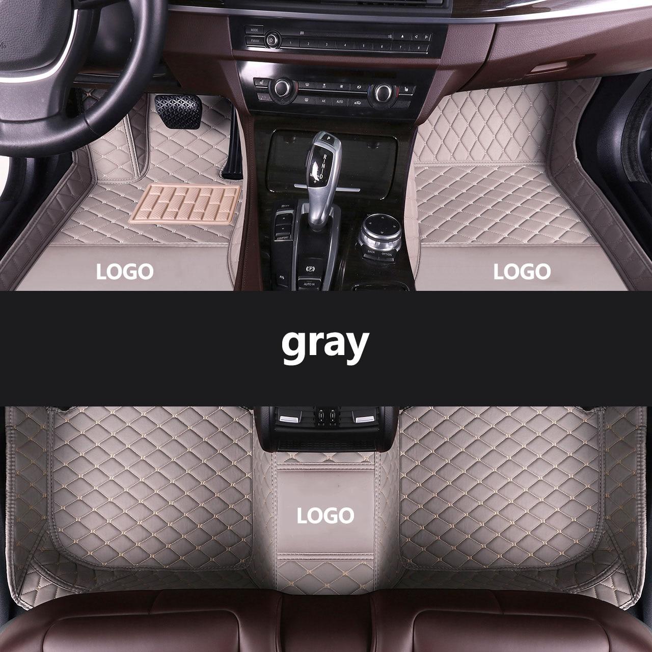 kalaisike Custom LOGO car floor mats for Peugeot All Model 4008 RCZ 301 3008 308 508 206 307 207 408 5008 2008 607 auto styling