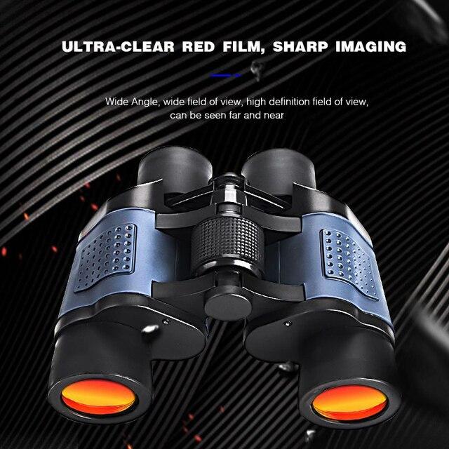 Binoculars Telescope 60x60 High Clarity with Clear Weak Night Vision Powerful Binoculars for Outdoor Hunting Optical Telescope 4