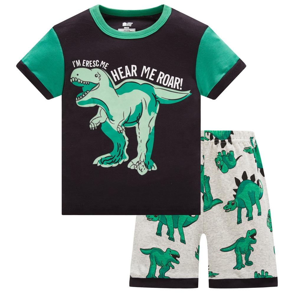 2020 Hot Summer Kids Pajamas Baby Boys Clothing Cartoon Costume Short Sleeve Pijamas children Sleepwear Pajamas Sets 2