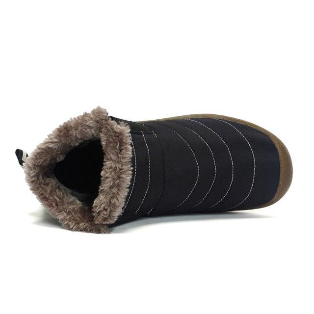 2019 Fashion Winter Men Boots Waterproof Comfortable Snow Boots Fur Warm winter Ankle Shoes Men Footwear Male Lightweight 3