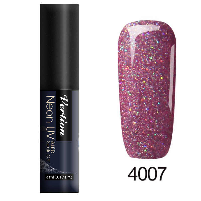 Verntion 5ml Neon Glitter renk UV jel oje LED lamba parlayan hibrid tırnak vernik emaye vernik manikür vernik jel tırnak