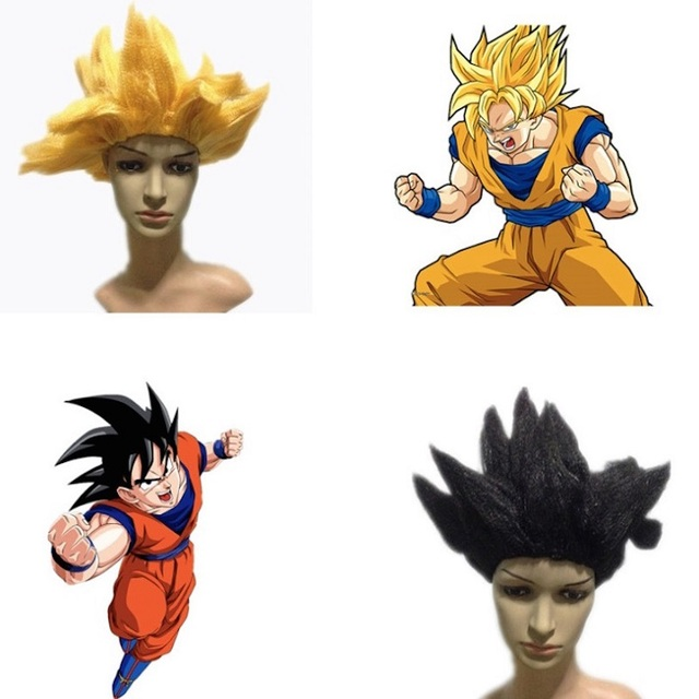 Anime Dragon Ball Z cosplay wig for children kids