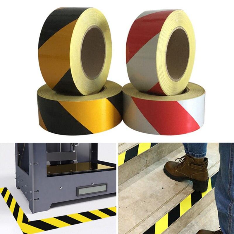 5cm Width Self-Adhesive PET Reflective Sticker Warning Strip Anti-collision Film