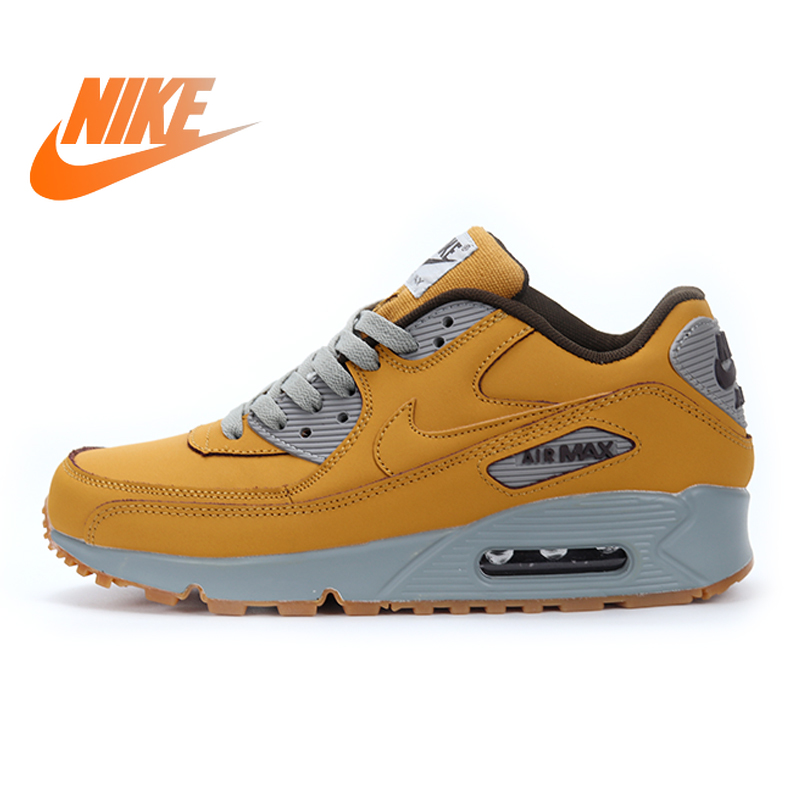 New Genuine Original Nike Air Max 90 Senior Men's Running Shoes Sports Outdoor Sports Shoes Comfortable Breathable 683282-700