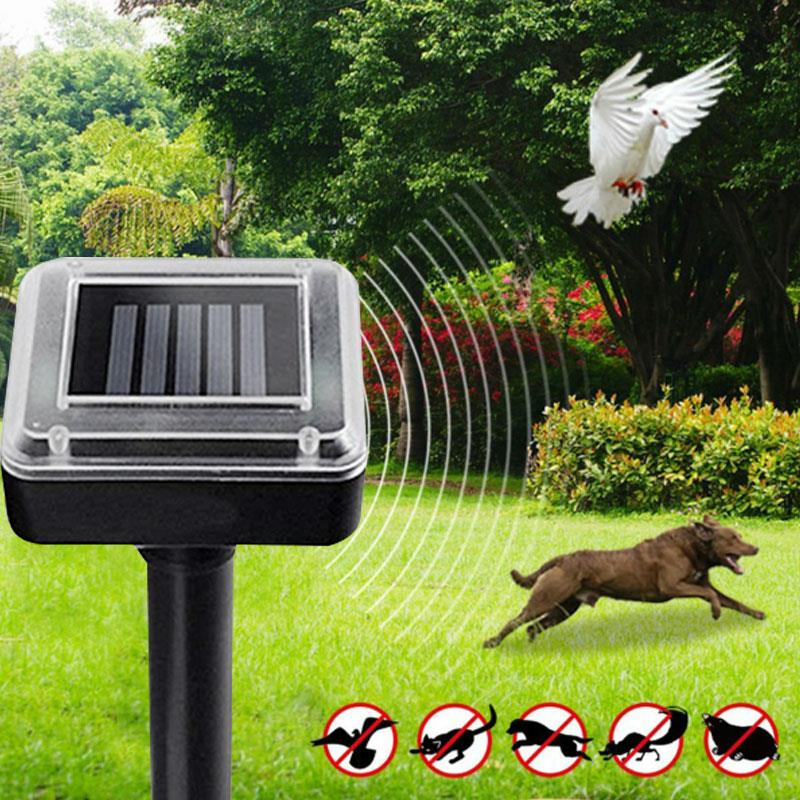 Black Ultrasonic Rat Repeller Solar Power Repeller Ultrasonic Mouse Repeller Animal Insect Outdoor 1.2V 600MAH Rodent Control