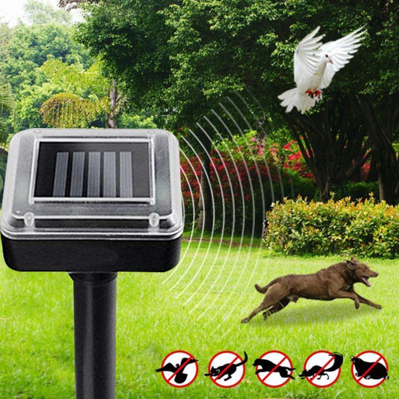 Black Ultrasonic Rat Repeller Solar Power Repeller Ultrasonic Mouse Repeller Animal Insect Outdoor 1.2V 600MAH Rodent Control