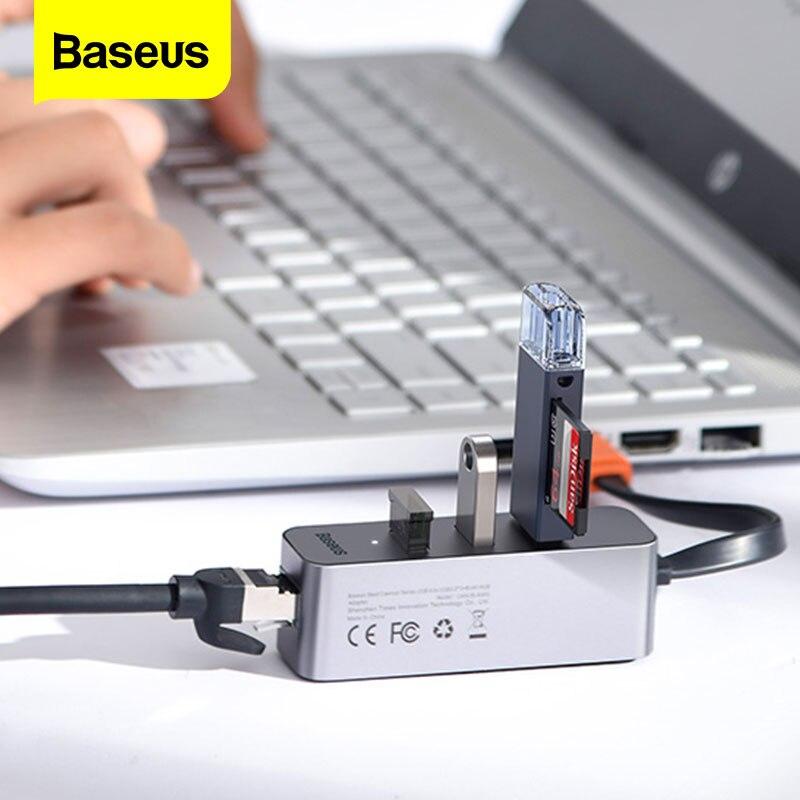USB-концентратор Baseus с USB 3,0 на RJ45, USB 3,0, 3 0