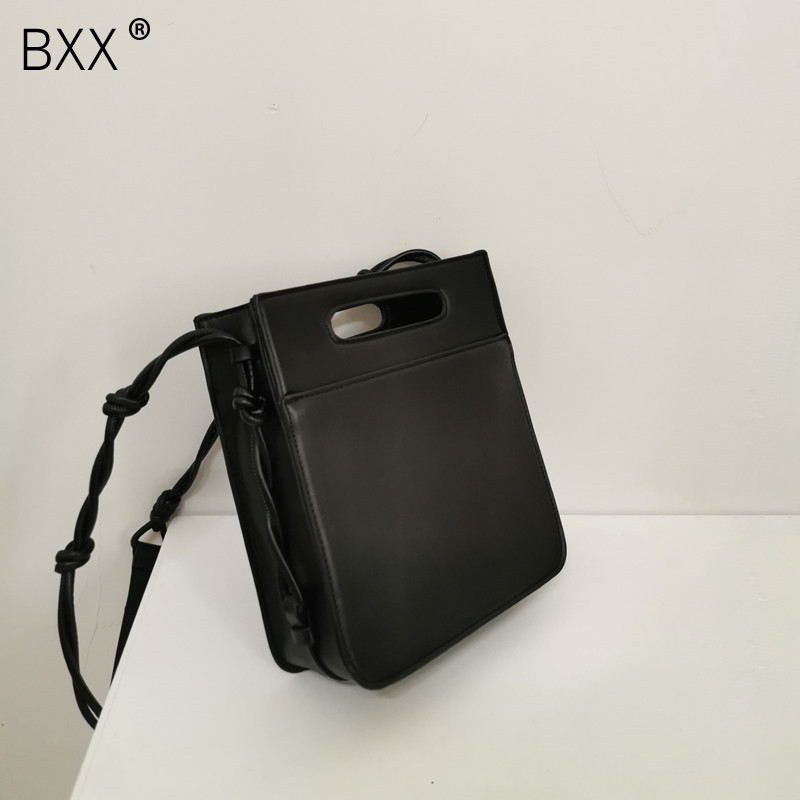[BXX] PU Leather Crossbody Bags For Women 2020 Spring Simple Shoulder Messenger Bag Female High Capacity Travel Handbags HK973