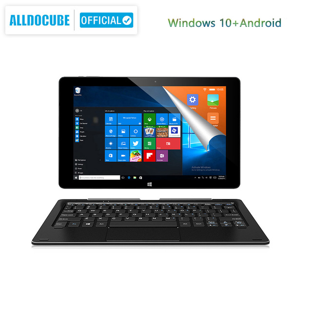 Alldocube iWork10 pro Tablet 10.1 inch  Intel Cherry Trail Windows10 Android 5.1 Dual System RAM 4GB+ROM 64GB 1920*1200 IPS wifi