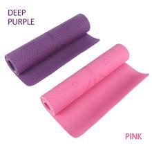 1830*610*6mm mata do jogi TPE z linią pozycji antypoślizgowa mata dywanowa dla początkujących środowiskowe maty gimnastyczne Fitness Pilates