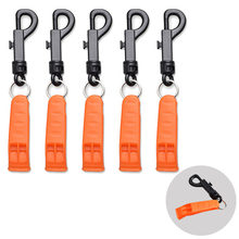 Safety Whistle with Clip for Boating Camping Hiking Hunting Scuba Diving Outdoor Emergency Survival Rescue Signaling