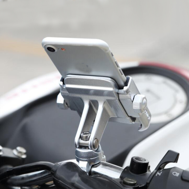 MOTOWOLF Universal Motor Bike Bicycle Motorcycle Cell Phone  Holder Phone Grip 360 Degrees Rotation Phone Holder Stand for  IphoneTheft Protection   -