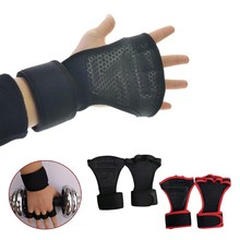 Anti-Skid-Gloves Gym with Wrist-Wrap Weightlifting Half-Finger Fitness-Workout Professional