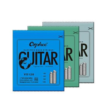 Orphee VX Series 4/5/6 String Bass Strings Electric Bass Strings Hexagonal Carbon Steel Nickel Alloy Wire Guitar Accessories orphee nano coating electric bass strings for 4 5 6 strings bass hexagonal core 100