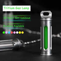 Tritium Gas Lamp Key Ring Automatic Light Self Luminous Life Saving Emergency Lights For Outdoor Safety and Survival Tool