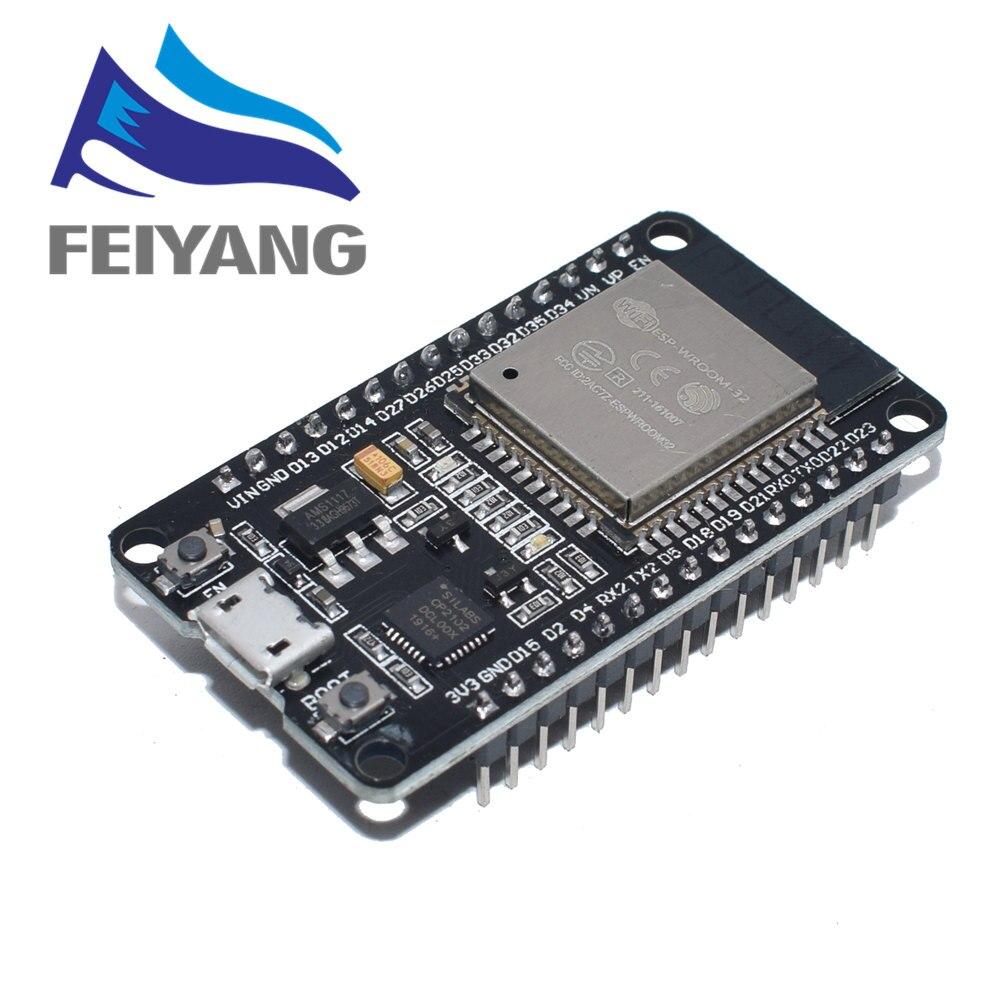 10PCS ESP32 Development Board WiFi+Bluetooth Ultra-Low Power Consumption Dual Core ESP-32 ESP-32S Similar ESP8266 Board