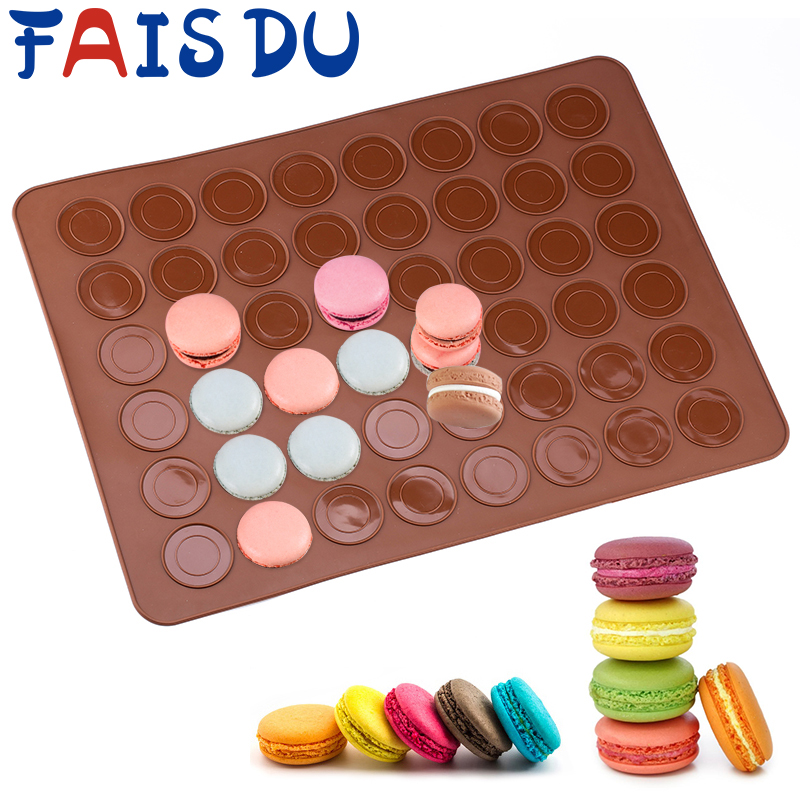 Non-stick Macaron Silicone Mat Baking Mold Baking Pan Pastry Cake Pad Baking Tools DIY Cake Mold Muffin Pastry Mould