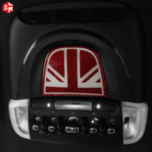 Voor Mini Cooper Countryman F60 Koolstofvezel Auto Accessoires Interieur Leeslamp Control Plane Auto Sticker Cover Decoratie