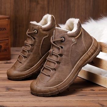 Zapatos informales de invierno para hombre, calzado interior de piel, para caminar, talla de zapatillas, 39-44